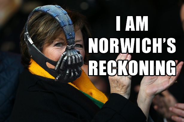Delia Smith is Norwich FC's Reckoning (Bane Parody Video)