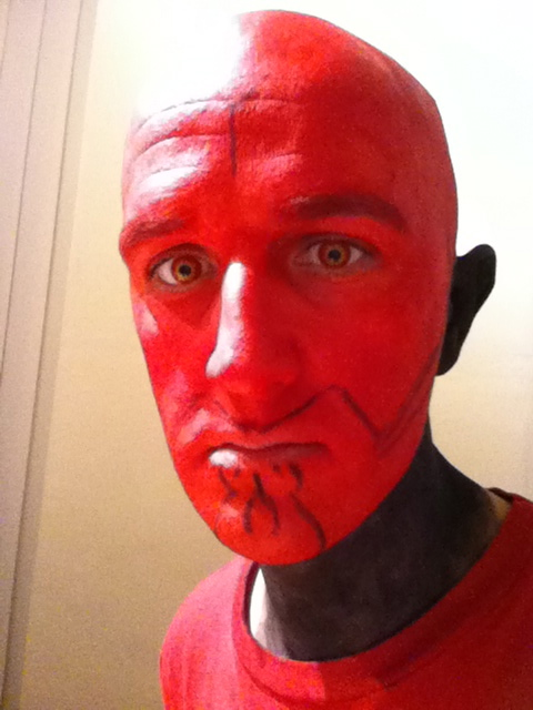 Darth Maul Makeup - Stage 7 Black jaw outline