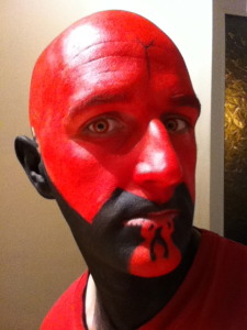 Darth Maul Makeup - Stage 4 Black jaw fill