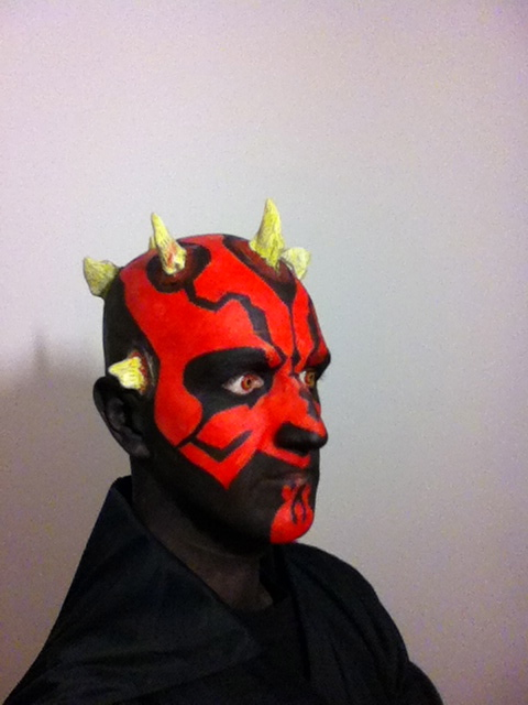 Darth Maul Makeup - Final Result