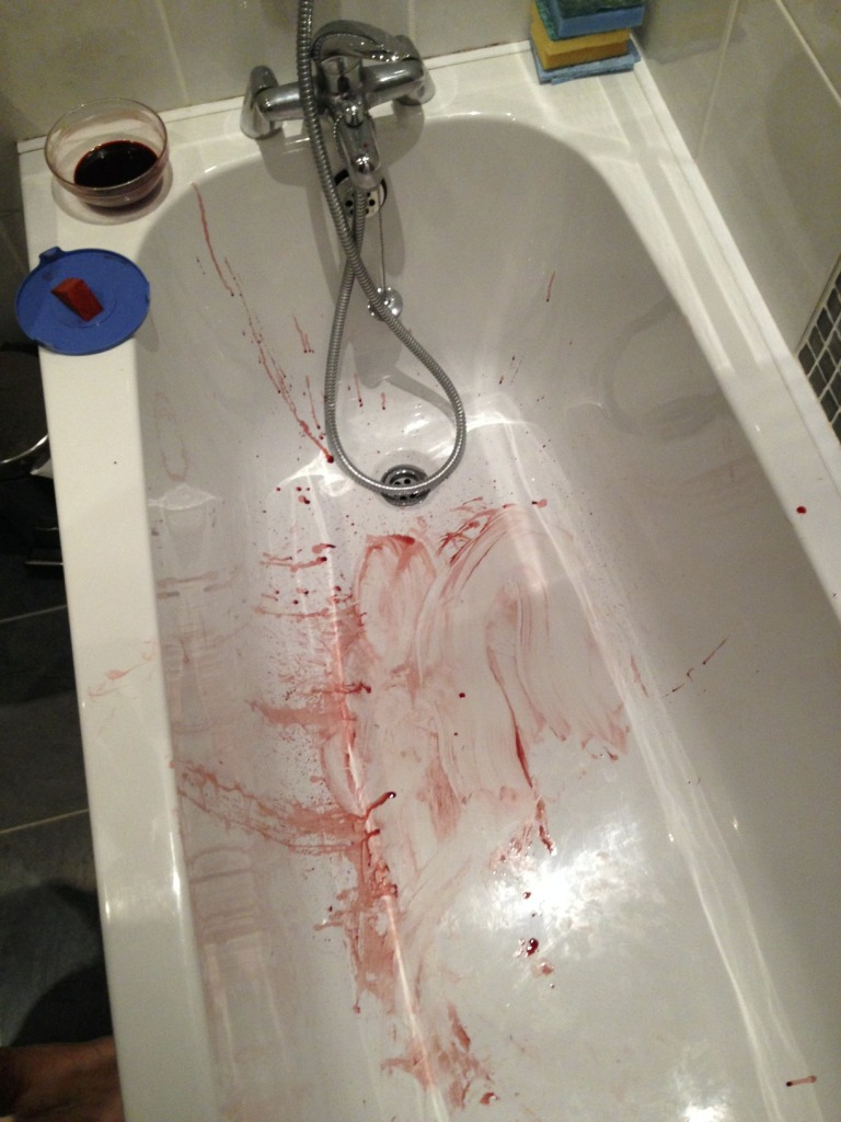 Zombie Costume Blood Bath