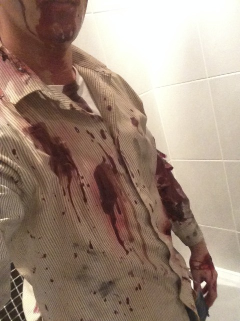 Zombie Costume Makeup - Blood