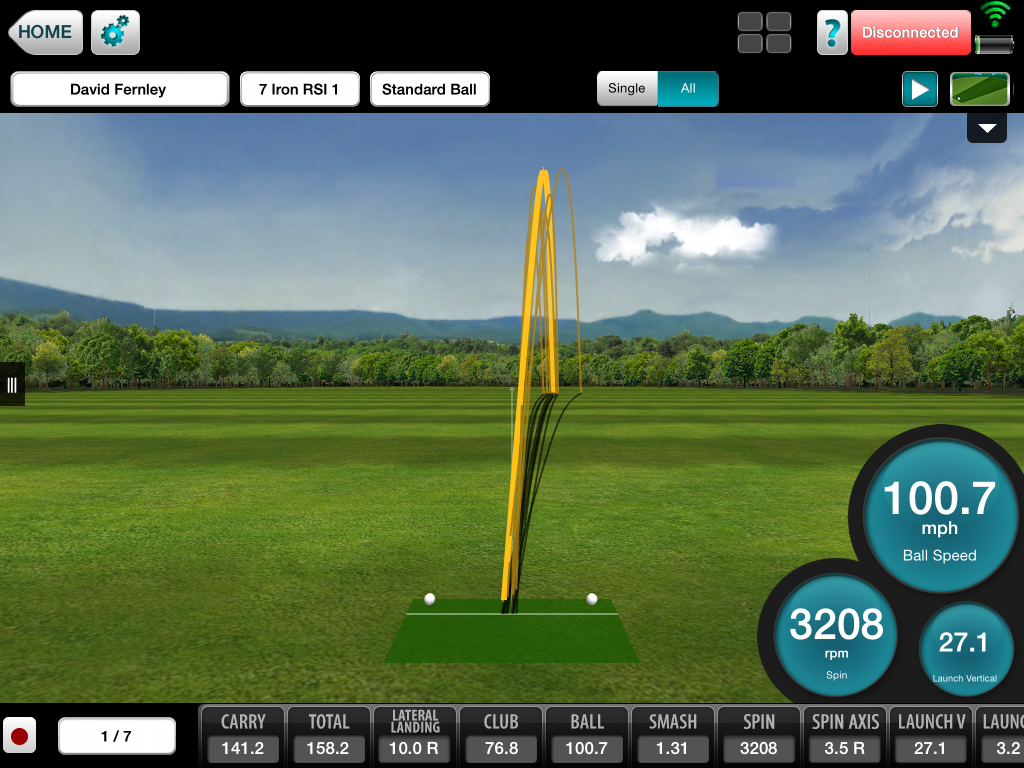 RSi 1 Flightscope Shot Shape